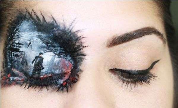 Sci-Fi Film Eye Makeup