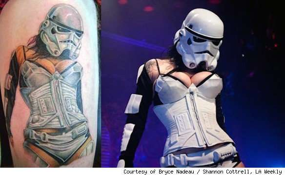 Star Wars Burlesque Tattoo
