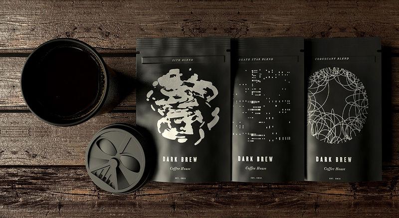 Galactic Character Coffee Branding