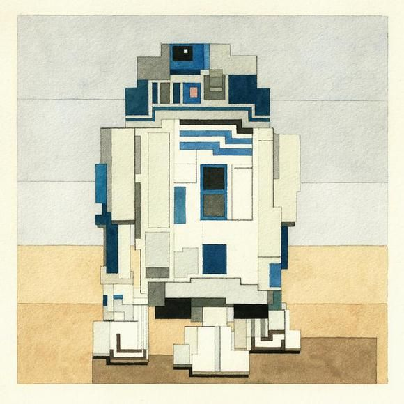 Pixelated Sci-Fi Portraits