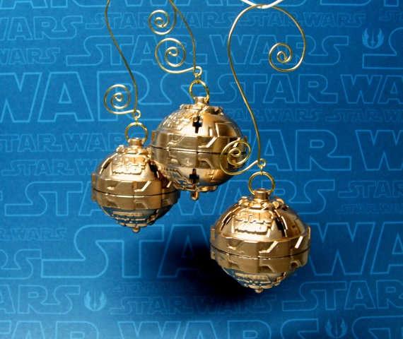 Death Star Christmas Orbs