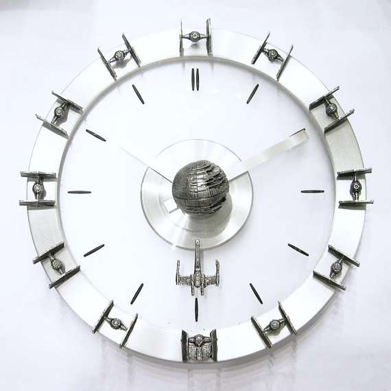 Star Wars Starships Wall Clock