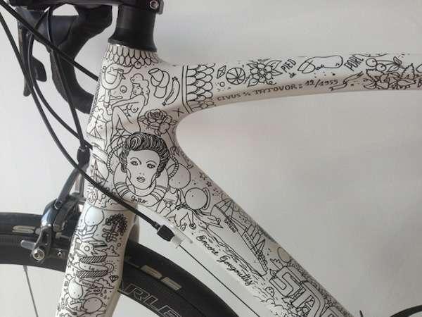 Intricately Illustrated Bikes