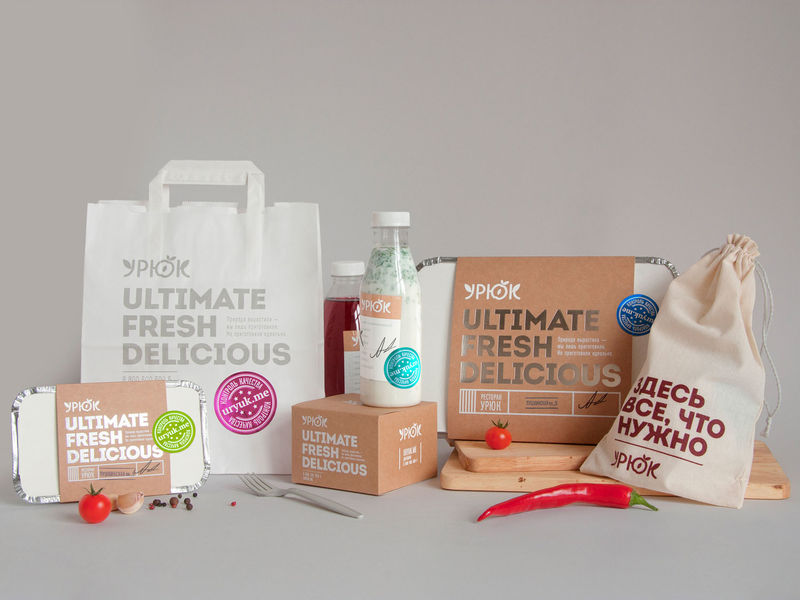 Modernized Rustic Restaurant Packaging