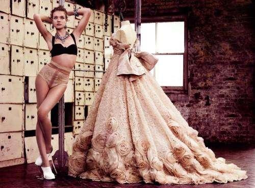 Posing Beside Dresses