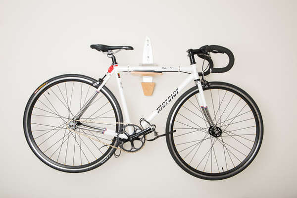Sleek Bicycle Wall Mounts Statement Bike Rack