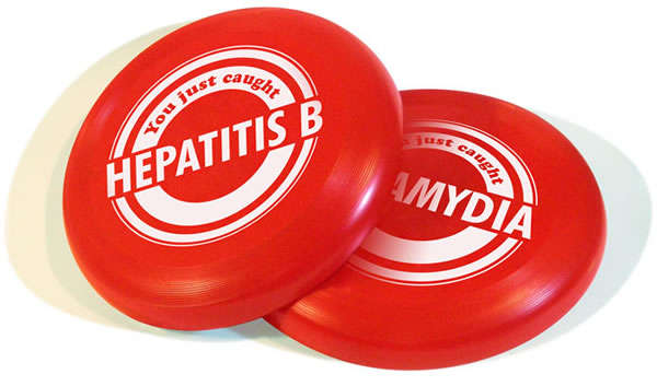 Health Educational Flying Discs