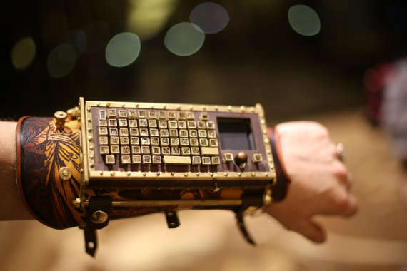 Steampunk Keyboard Cuffs
