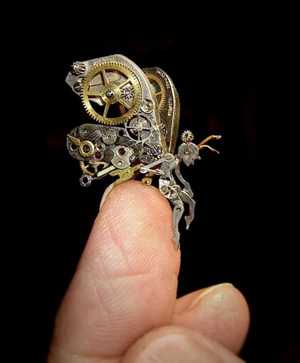 Upcycled Steampunk Sculptures
