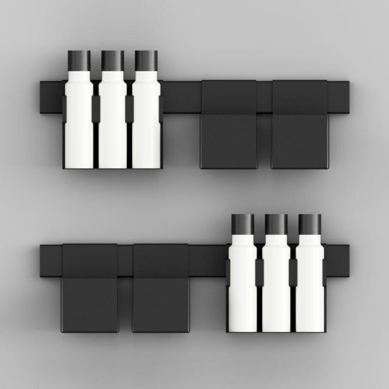 Minimalist Steel Shelves