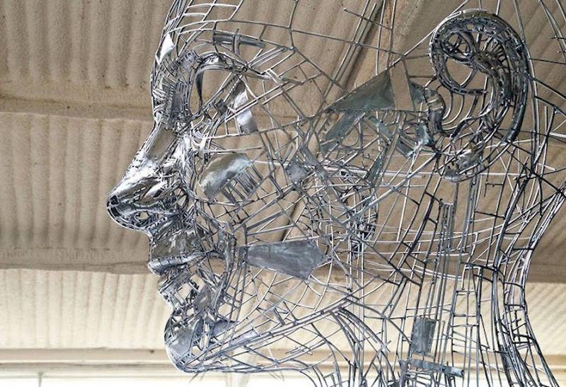 Feminine Metallic Sculptures