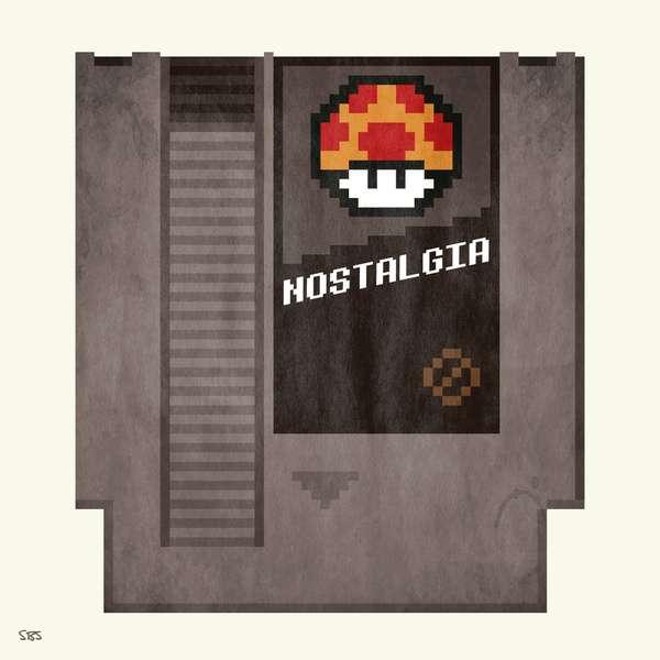 Retro Game Cartridge Renderings