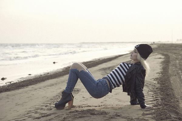 Punk Rocker Seaside Photography