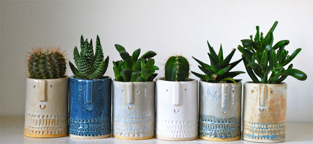 Clay Planter Characters