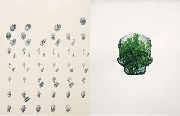 Distorted Skull Art