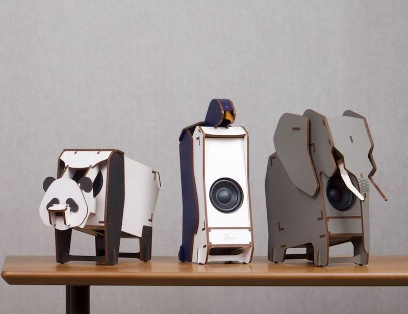 Diy Wooden Animal Speakers Stereo Puzzle