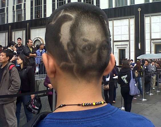 Steve Jobs Tribute Haircut
