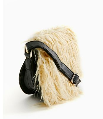 Stevie Faux Shearling Bag