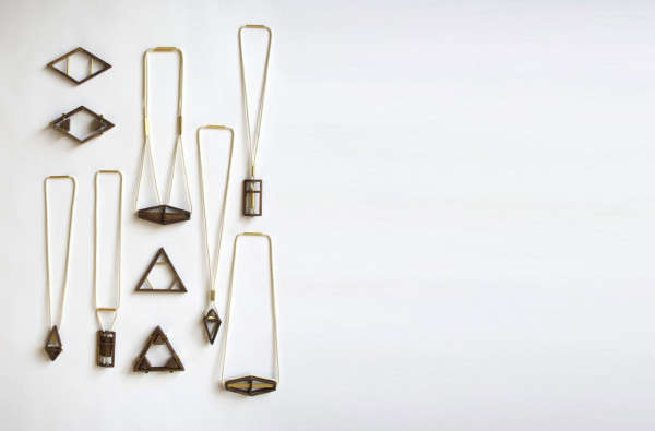 Geometric Wooden Jewelry