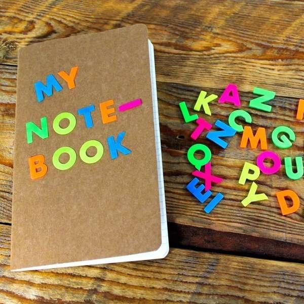 Alphabetized Sticky Notes