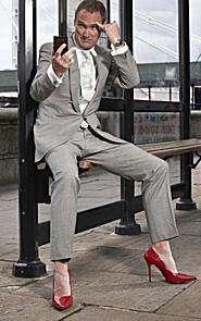 guy in heels