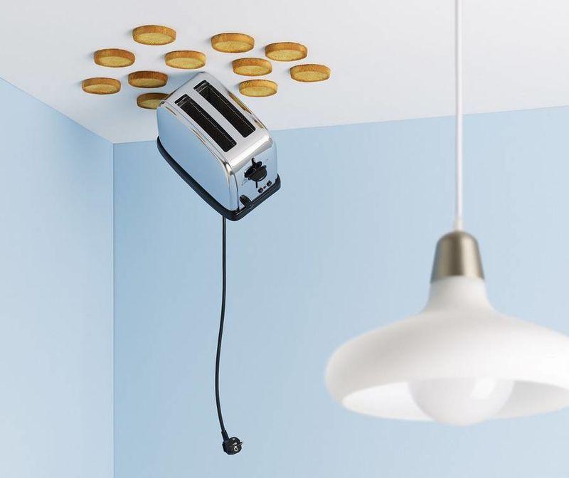 Gravity-Defying Domestic Scenes