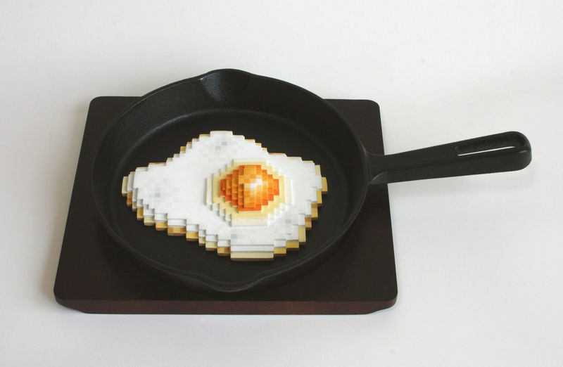 Pixelated Still Life Sculptures