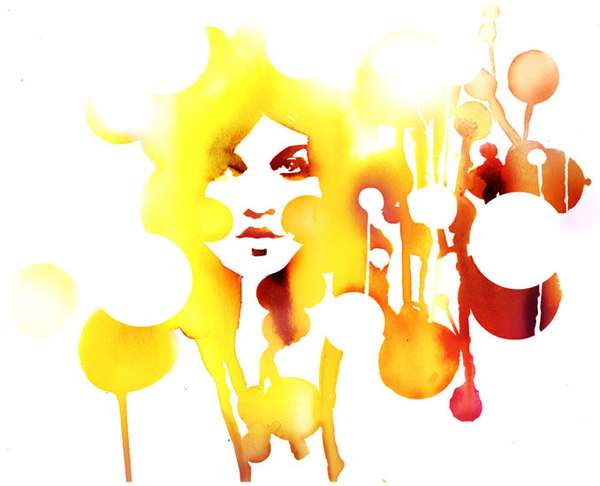 Dripping Watercolor Portraits