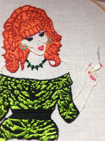 Pop Culture Embroidered Artworks