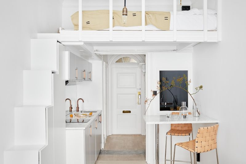 White Micro-Apartments
