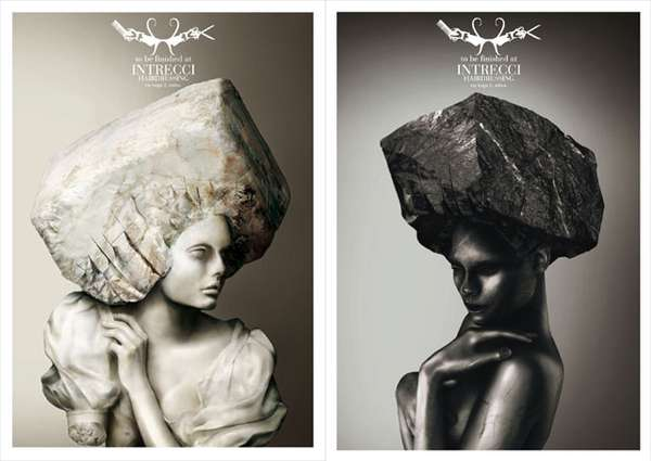 Stone Hairstyles: Milan Salon Intrecci's Ad Campaign Emphasizes ...