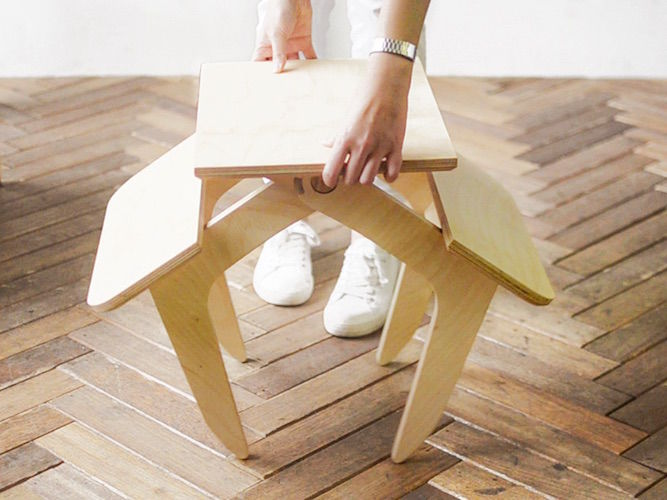 Dual-Use Stool Tables