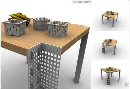 Storage Furniture for Small Spaces Storable Table Features