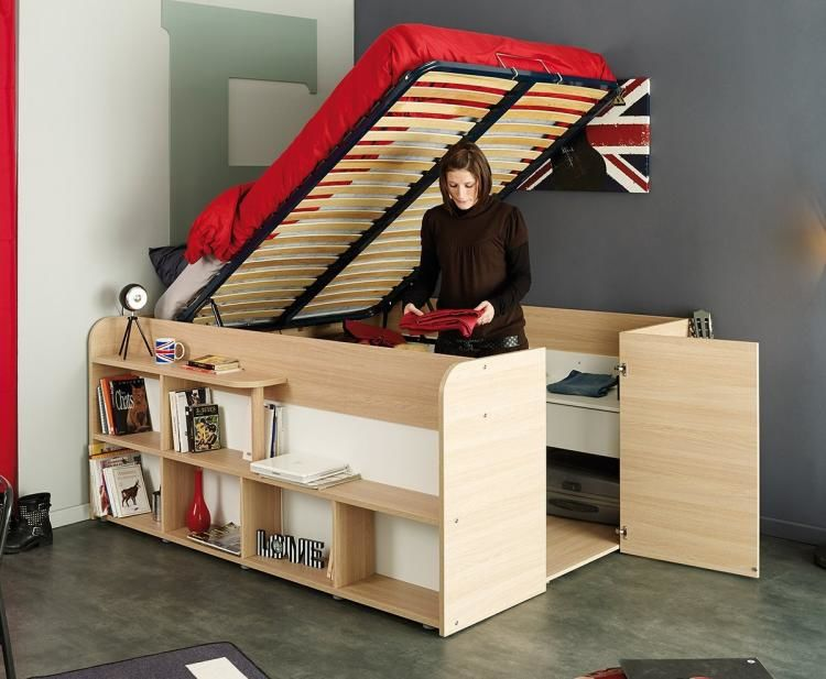 Storage Closet Bed Frames : storage beds