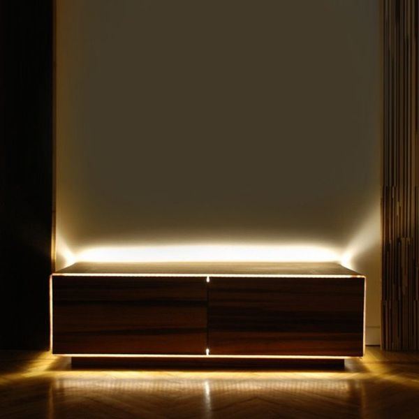 Illuminated Bedroom Storage