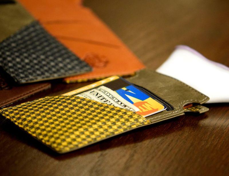 Pocket Square-Holding Wallets