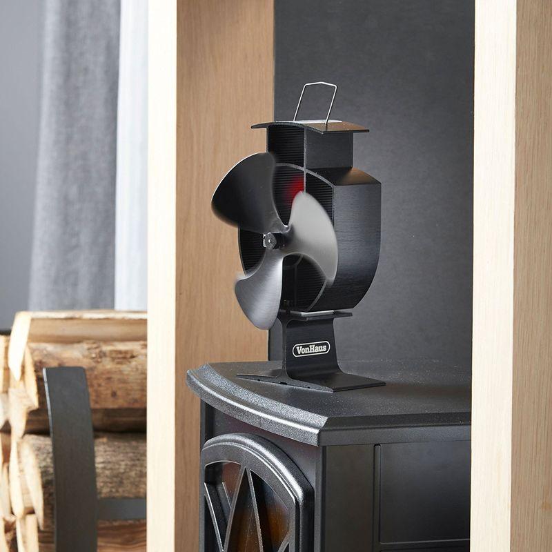 heat spreading stove fans stove fan. Black Bedroom Furniture Sets. Home Design Ideas