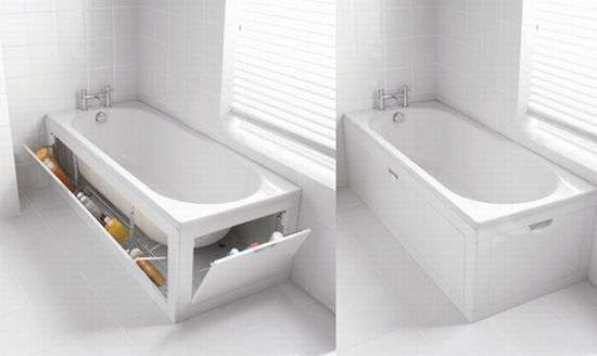 Stowaway Bath Panel Storage System