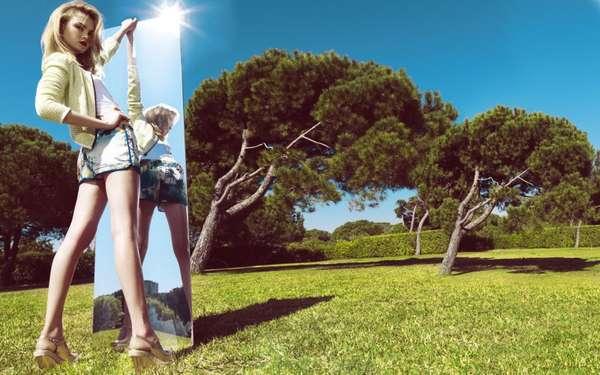 Reflective Fashion Ads
