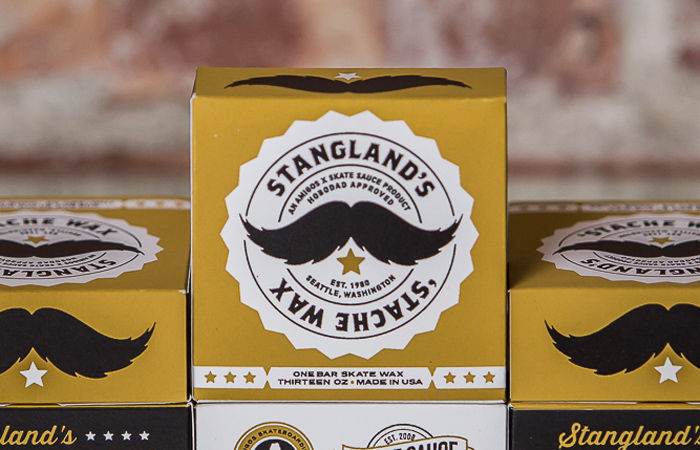 Strangland's 'Stache Wax Packaging