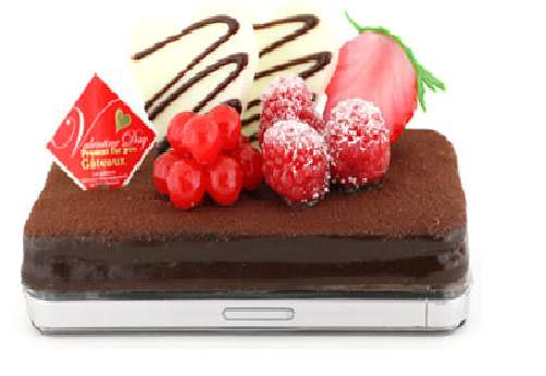 strapya chocolate cake iphone