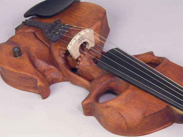 stratton skull 5 string electric violin