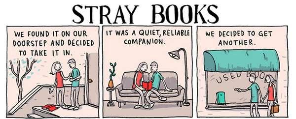 Literary Junkie Illustrations