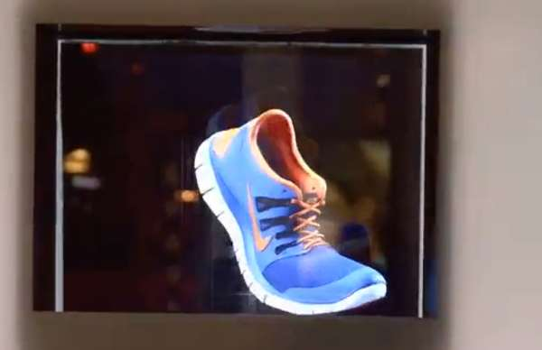 Holographic Shoe Advertisements