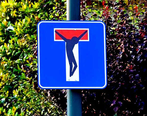 street sign graffiti