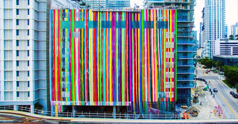 Striped Street Murals