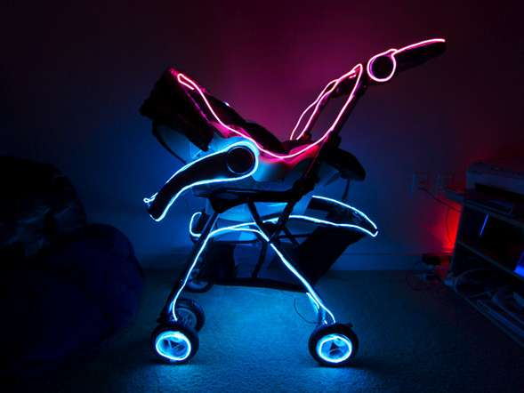 TRON-Inspired Baby Buggies