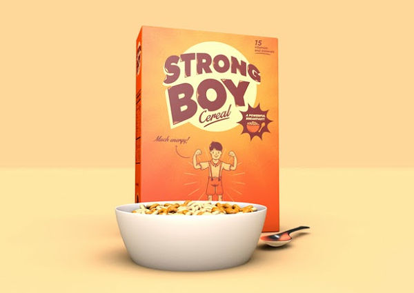 Strong Boy Cereal packaging