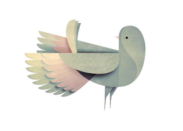 Paper-Like Bird Illustrations