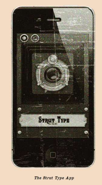 'Strut Type' App for iPhone